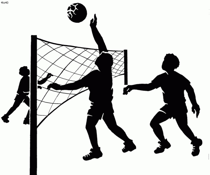 Volleyball Game Clipart.