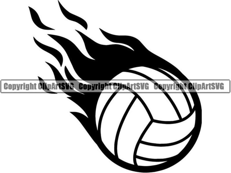 Volleyball clipart flame, Volleyball flame Transparent FREE.