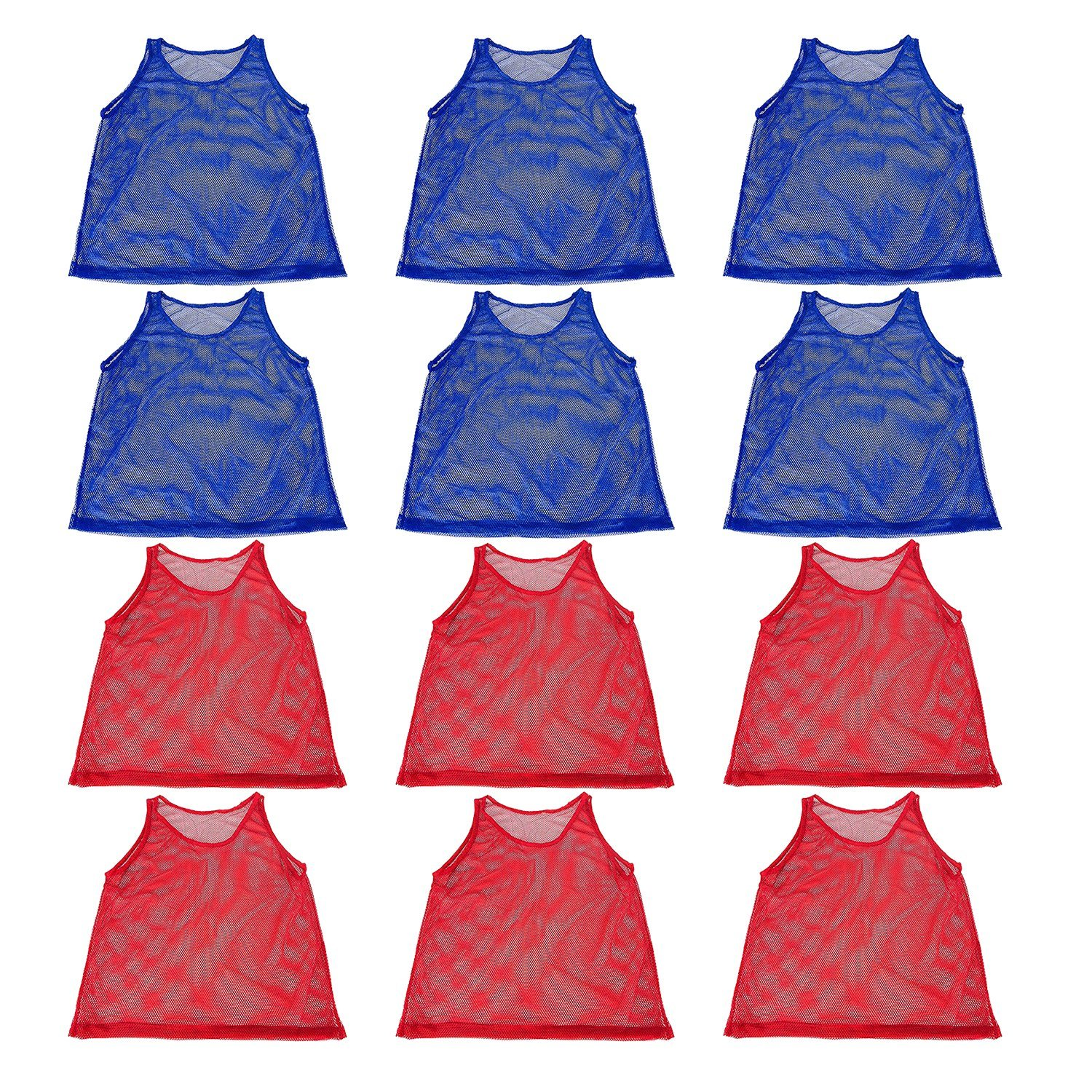 Details about Mesh Scrimmage Practice Jerseys TEENS & ADULTS Training Vests  Pinnies Red Blue.