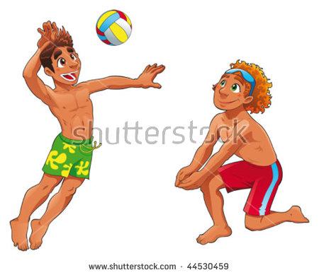 Volleyball Cartoon Stock Photos, Royalty.