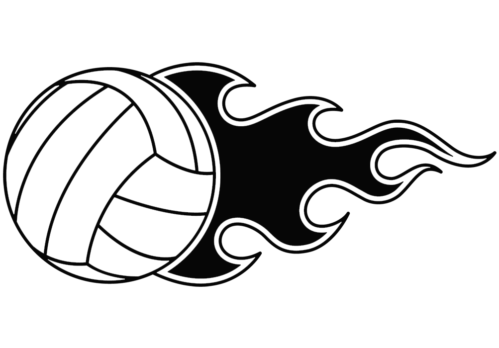 volleyball fun clipart