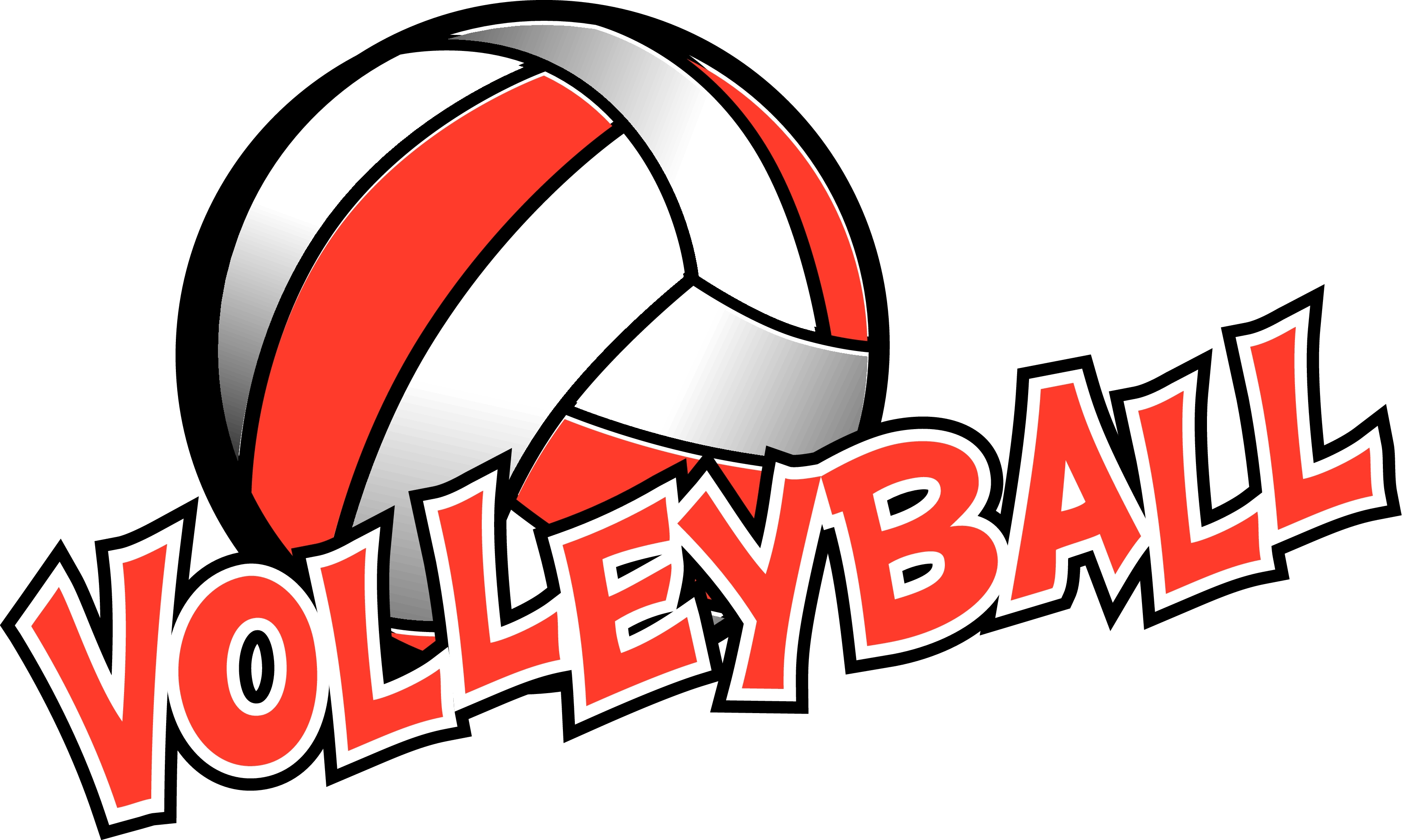 Love Volleyball Word Clipart.