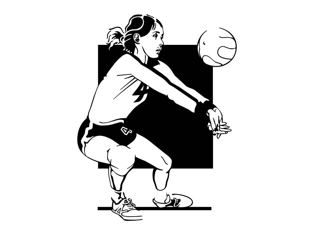 Showing post & media for Girls volleyball cartoon.
