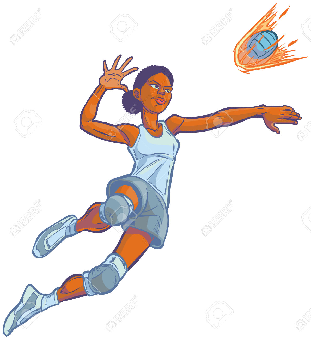 volleyball girl diving clipart - Clipground