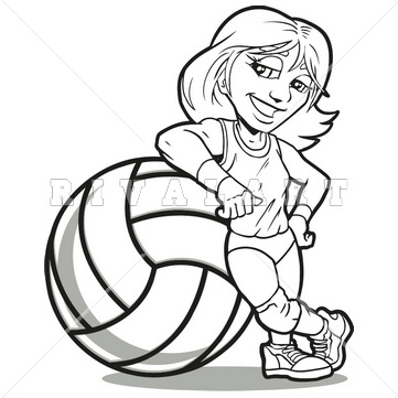 Volleyball Girl Clipart.