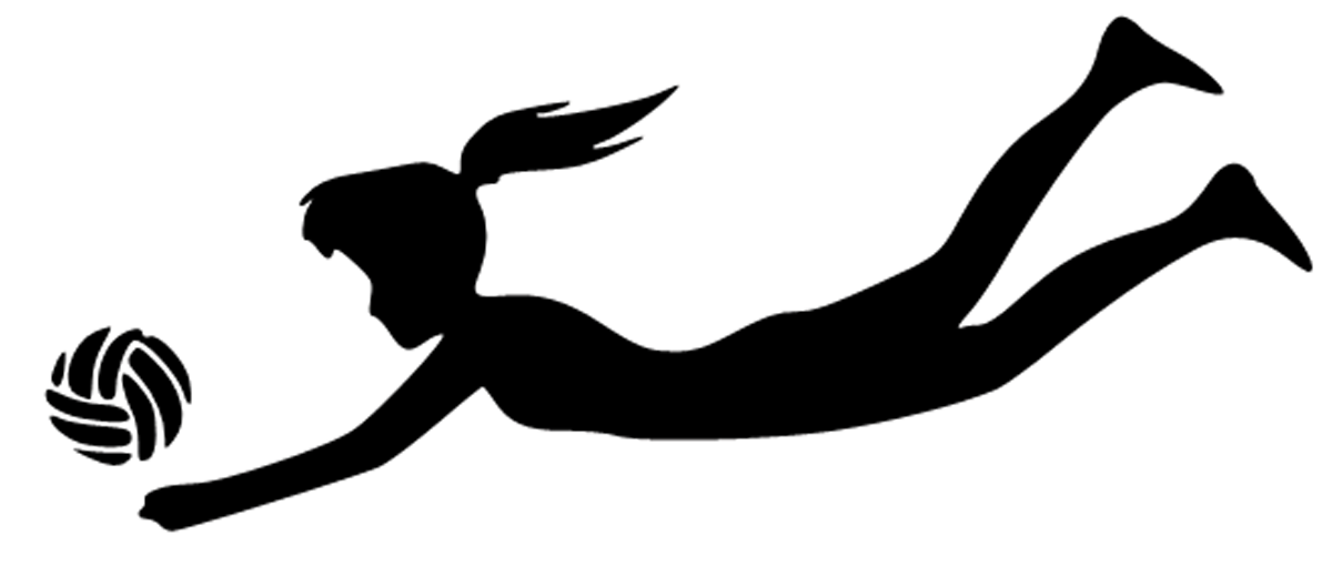 Volleyball Girl Diving Clipart.