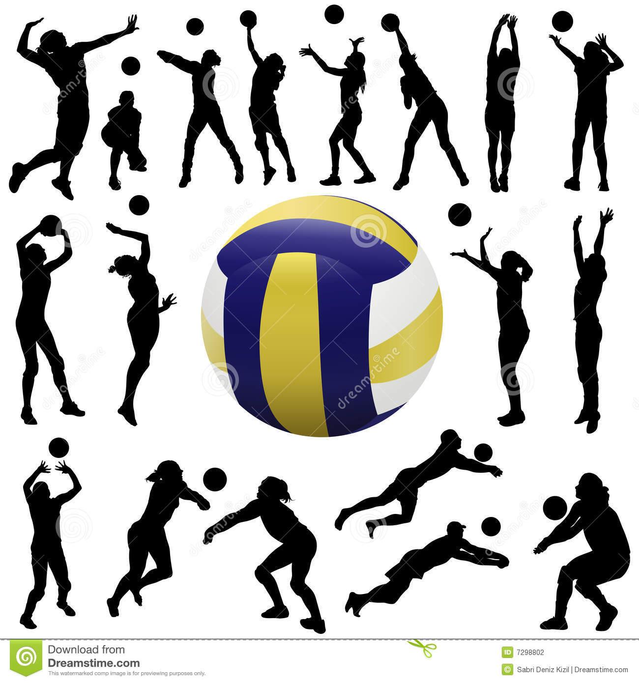 Volleyball Stock Illustrations.