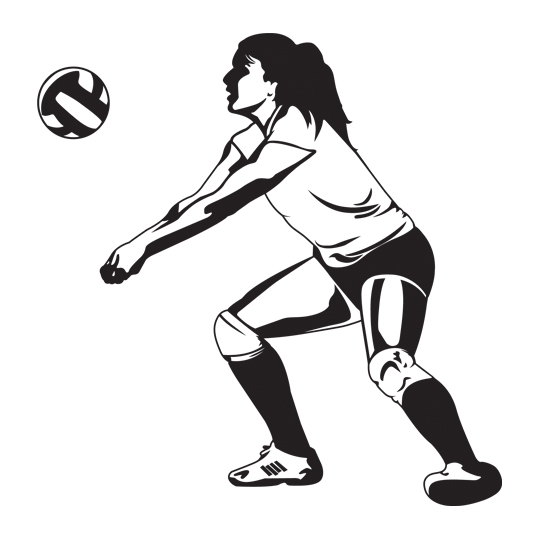 Female Volleyball Player Clipart.