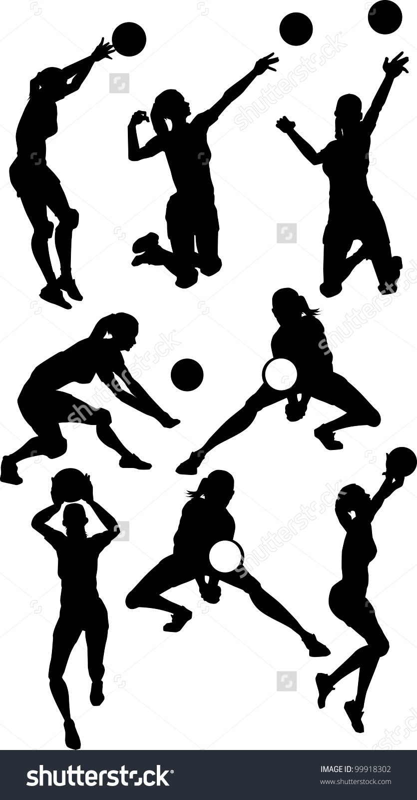 Volleyball Girl Passing Clipart Clipground