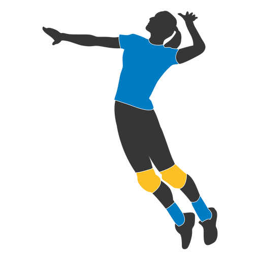 Volleyball Player PNG Image.