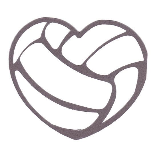 Volleyball Heart Clipart.
