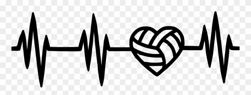 Volleyball With Heart Clipart (#1732049).