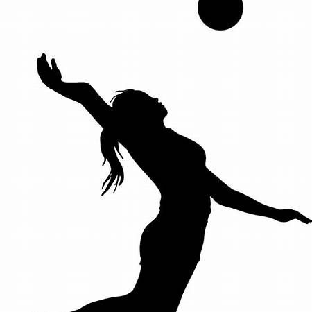 Volleyball Player Silhouette Clip Art.