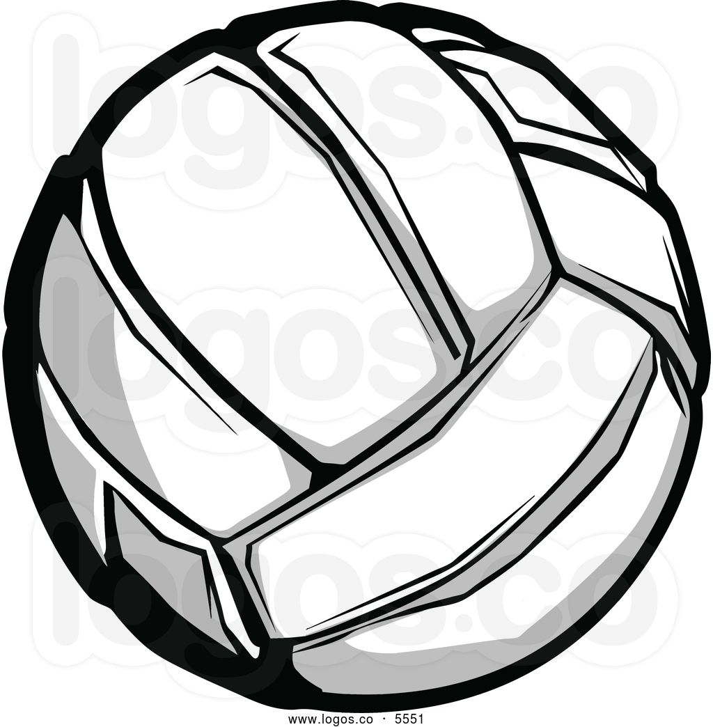 Colorful Volleyball Clipart.
