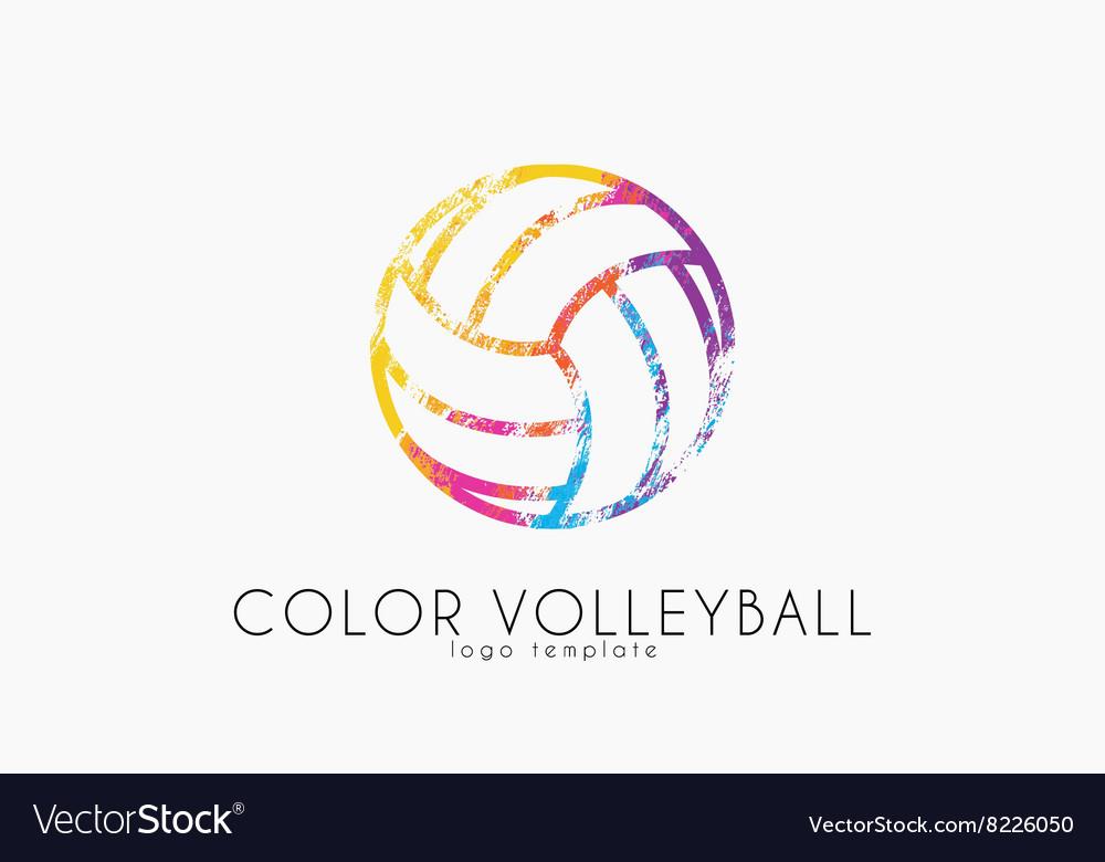 Volleyball logo Volleyball ball logo design.