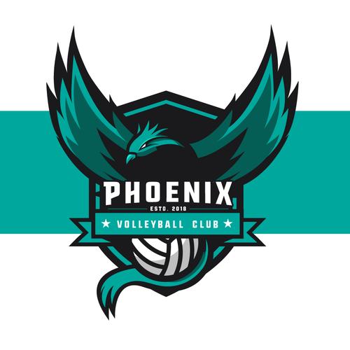 Phoenix Volleyball Club Logo Design.