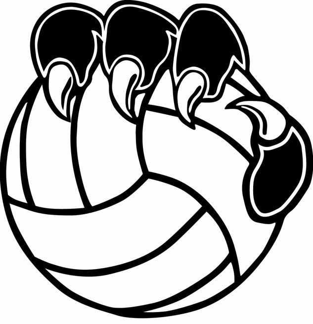 Volleyball Logos Clip Art N2 free image.