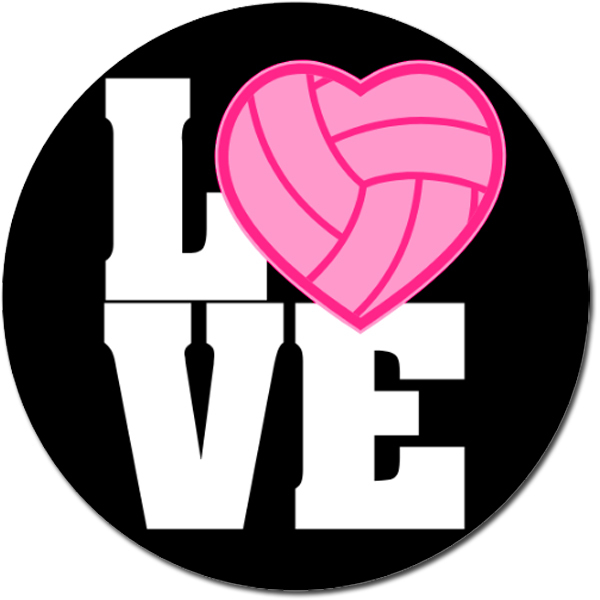 I Love Volleyball Clipart.