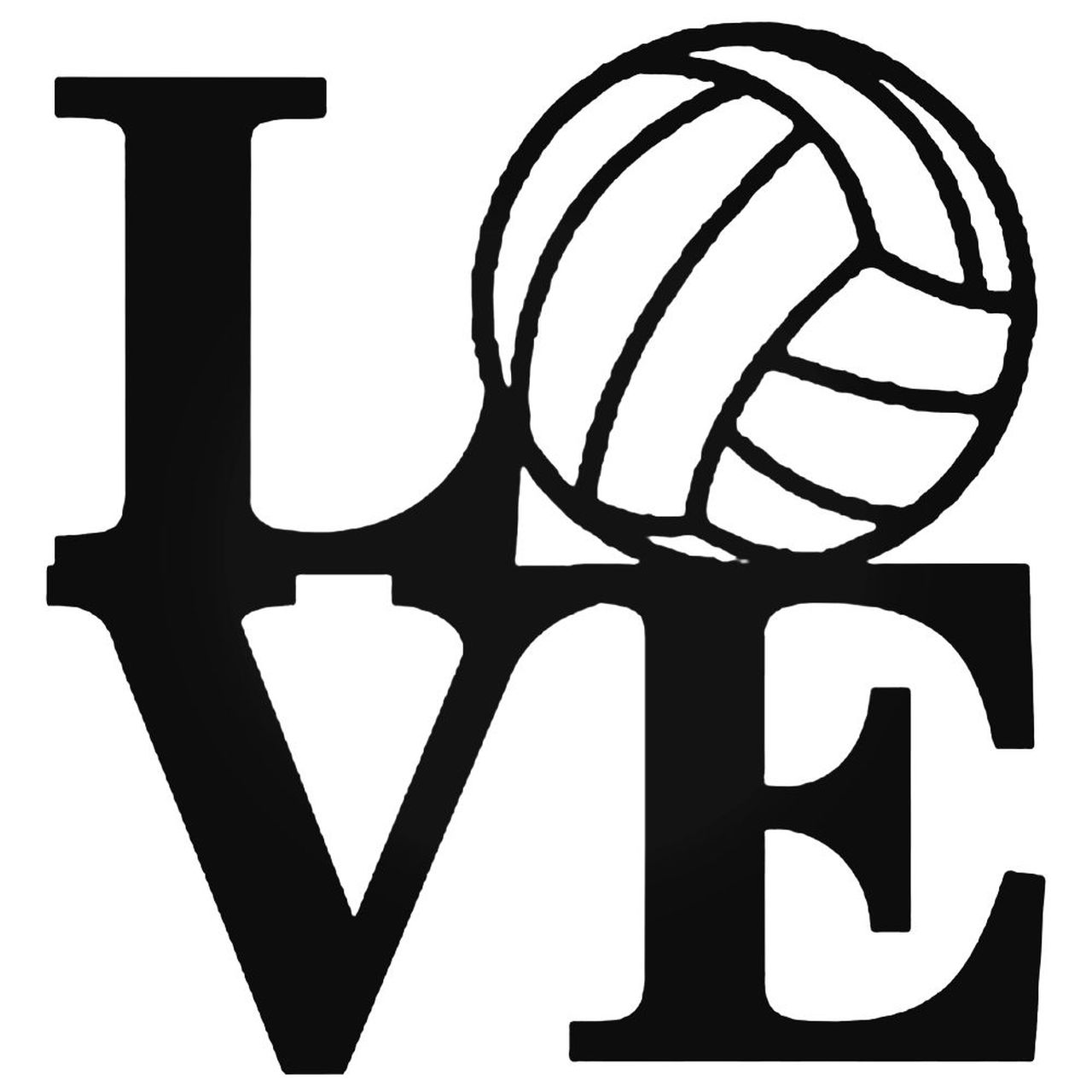 Volleyball Love 005 Decal Sticker.
