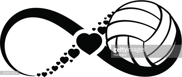 Volleyball Love Infinity Clipart Image.