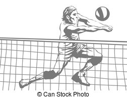 Volleyball player Clipart Vector and Illustration. 2,951.