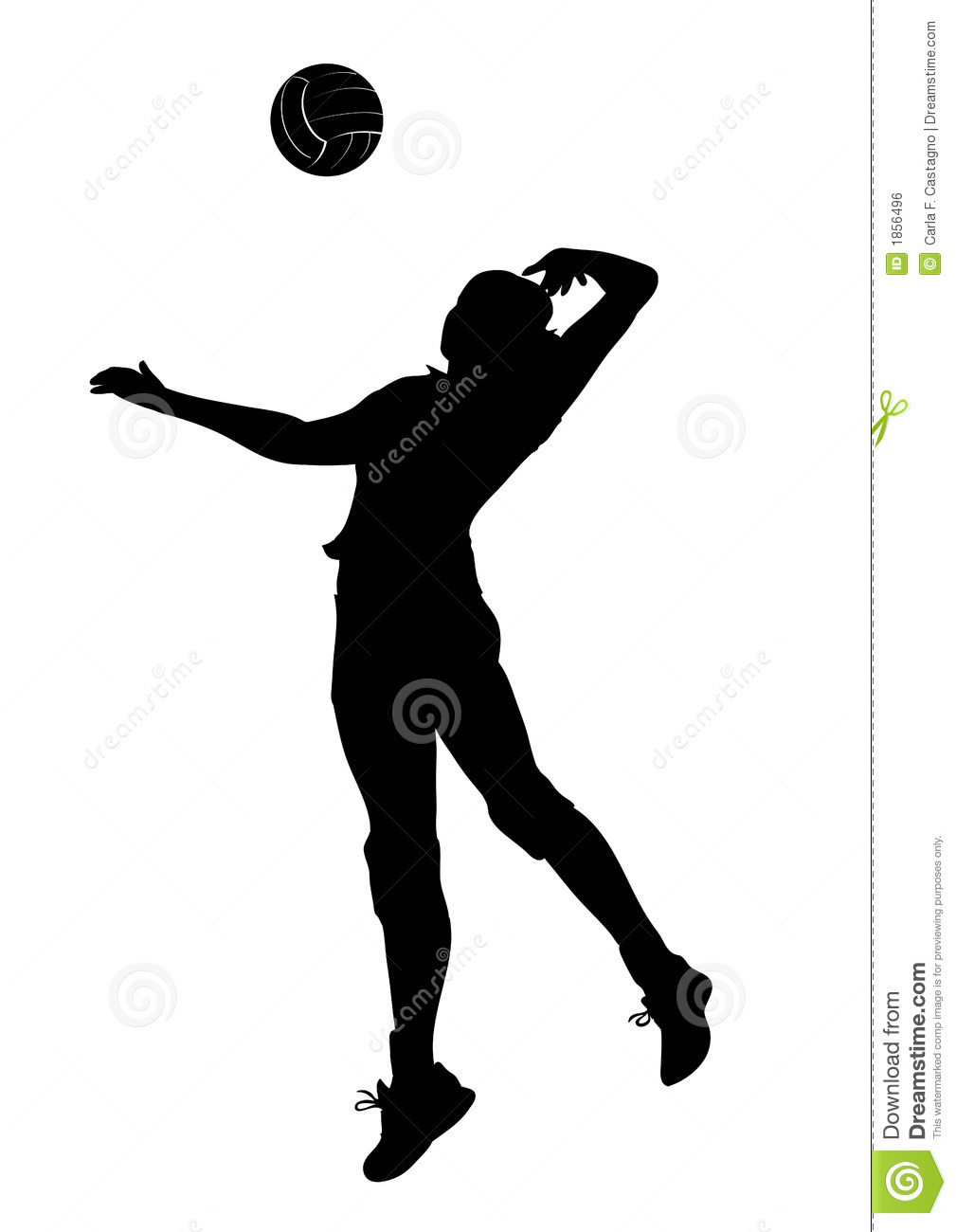 volleyball player clipart free #16
