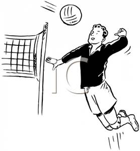 Showing post & media for Volleyball men cartoon.