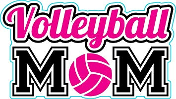 Amazon.com: Die Cut Volleyball Mom Vinyl Decal, Volleyball.