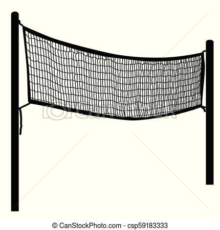 Beach volleyball net on white.