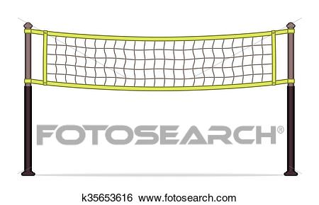 Volleyball net Clip Art.