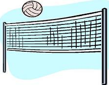 Free Volleyball Net Clipart.