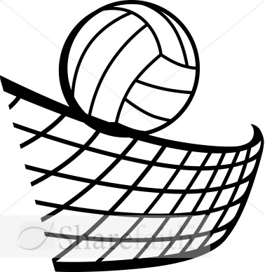 Volleyball net clipart #9