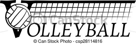 Vector Clip Art of Volleyball Net With Text.