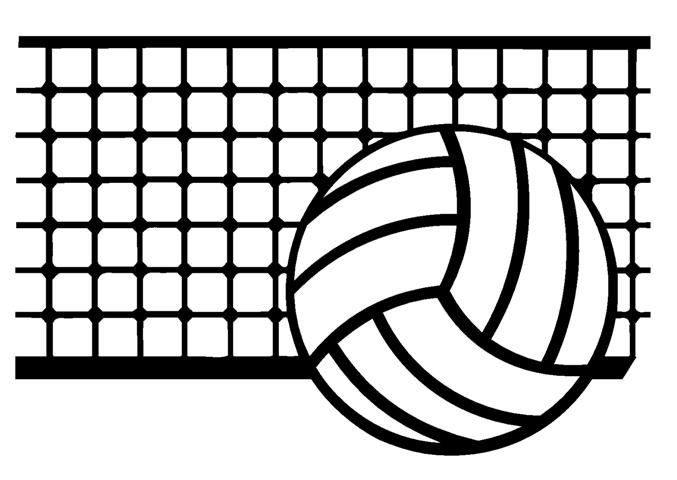 Volleyball Net And Ball Clipart.