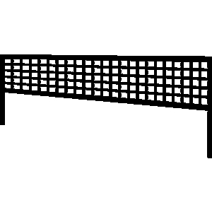 Black volleyball net clipart.
