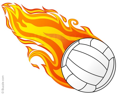 Volleyball Flame Clipart.