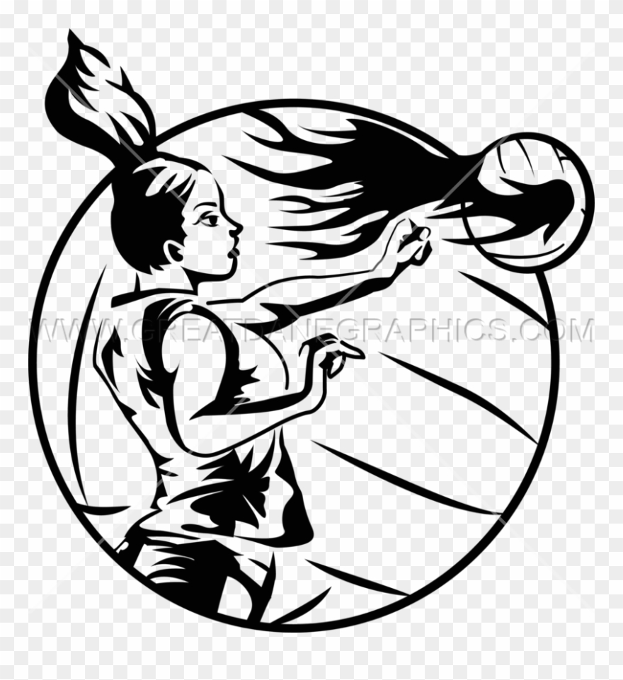 Download Spiking In Volleyball Black And White Clipart.