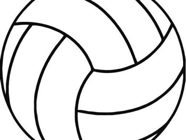 Volleyball Outline Cliparts 1.