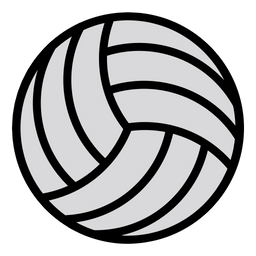 Volleyball Icon of Colored Outline style.