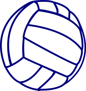 Volleyball Blue Outline PNG, SVG Clip art for Web.