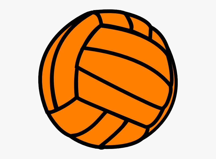 Orange Volleyball Clip Art.