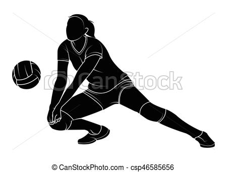 volleyball woman player.