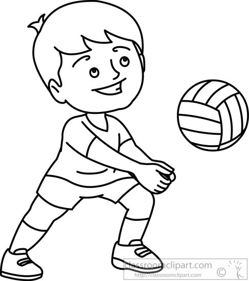 Volleyball Player Clipart Black And White.