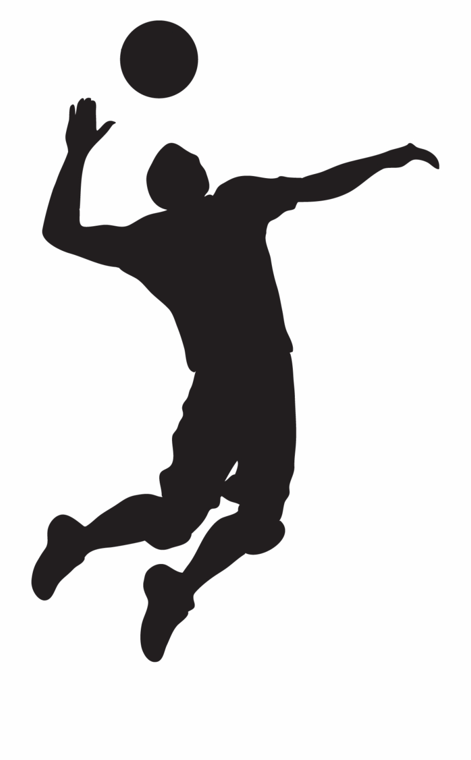 Free Volleyball Player Clipart Black And White, Download.