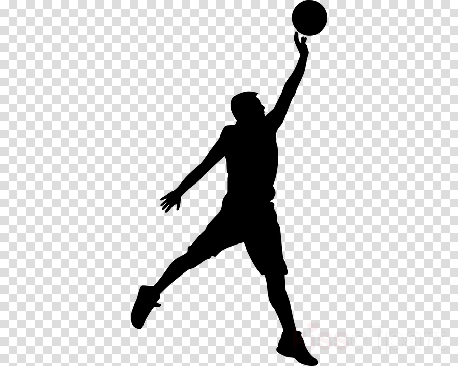 silhouette volleyball player basketball player clipart.