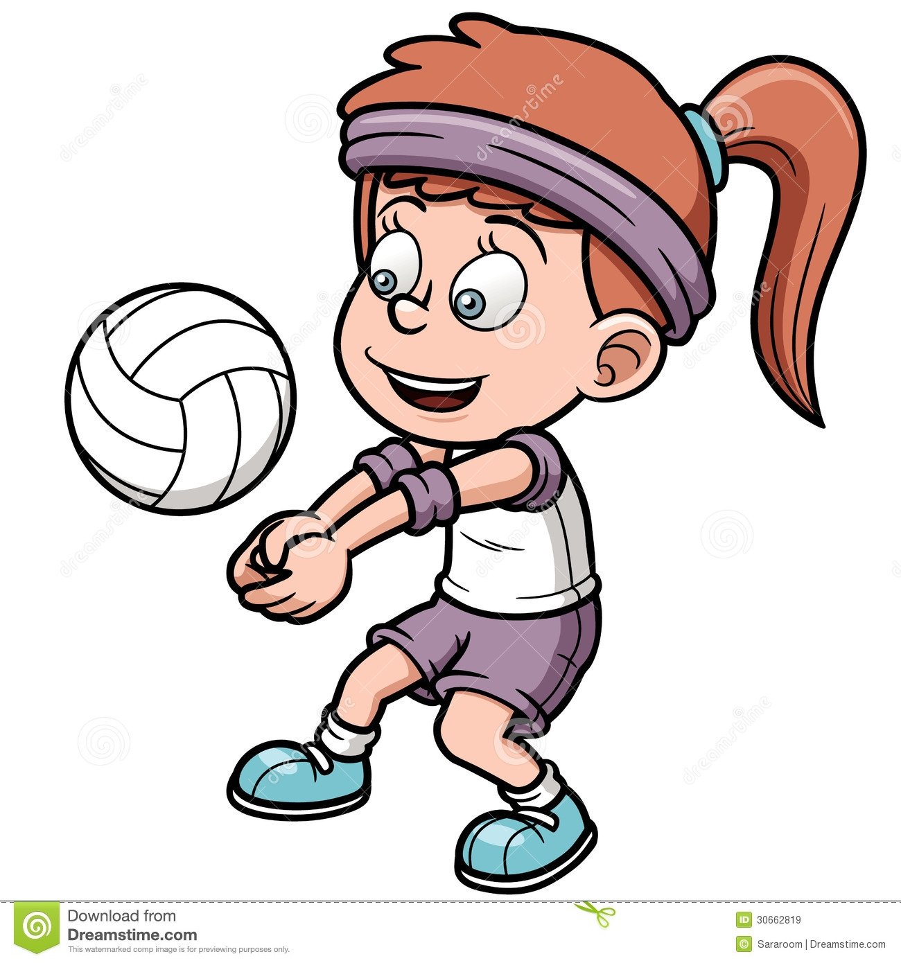 Volleyball Player Clipart.