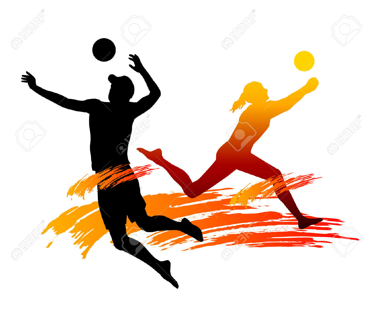 6,736 Volleyball Player Stock Vector Illustration And Royalty Free.