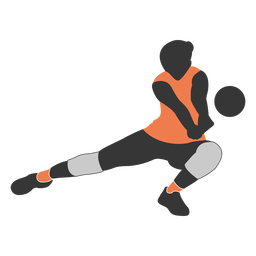 Volleyball player clipart male