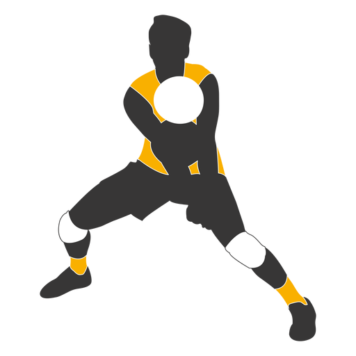 Male Female Volleyball Player Pack Silhouette.