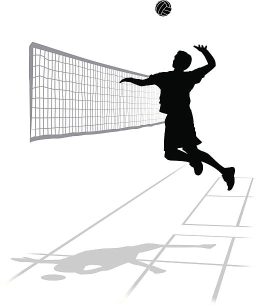 Best Volleyball Spike Illustrations, Royalty.